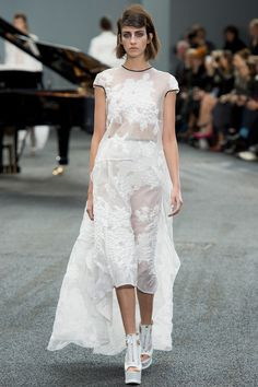 "Erdem - Spring 2014 RTW - Style.com / Looks like a tomboy wedding dress -- useful, these days. There are B&W ""dressfits"" for the other side of the aisle as well."
