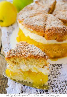 Torta di ananas e cocco ripiena di mele e crema vickyart arte in cucina