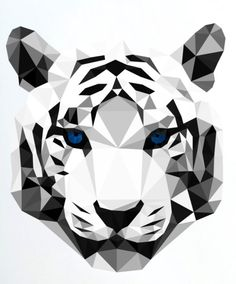 geometric tiger | animalgeometry on etsy