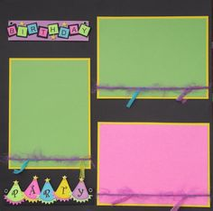 Birthday Party Premade Scrapbook 12x12 Layout Page  by jenbustillo, $7.99