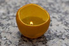 Quieren hacer un vela con una naranja??? Les mostramos paso a paso cómo hacerlo.. #manualidades