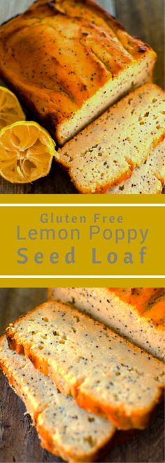 Gluten Free Lemon Poppy Seed Loaf, this quick recipe has the taste and texture of pound cake with less fat and no refined sugar!