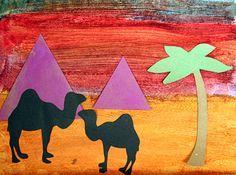 Pyramids at Sunset - Egypt art project