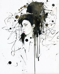 """""""AMY""""  by =Lora8 -   Traditional Art / Drawings / Miscellaneous (amy winehouse)"""
