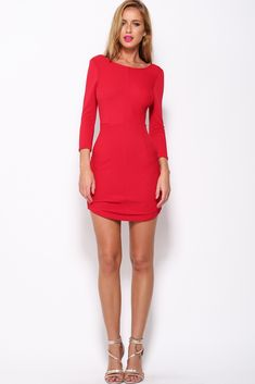 Pleasant Moments Dress, Red, $59 + Free express shipping http://www.hellomollyfashion.com/pleasant-moments-dress-red.html