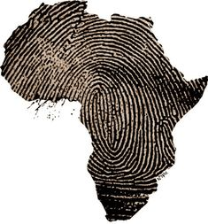 Africa, a fingerprint. I would get this for a tattoo except it would be Italy not Africa Black Art, Adn Tattoo, Tattoo Art, African Beauty, African Fashion, African Style, Afrika Festival, Afrika Tattoos, Tattoos Of Africa