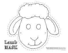 Sheep mask template - Buscar con Google: