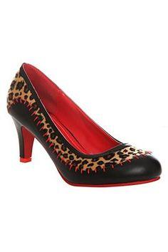 Leopard Stitch Heels by T.U.K