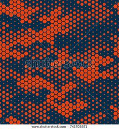 Camouflage pattern background seamless vector illustration. Hexagonal camouflage pattern. Orange Fashionable Abstract geometric seamless camouflage pattern. Colorful camouflage seamless pattern. Camo. Pattern Art, Abstract Pattern, Pattern Design, Textures Patterns, Print Patterns, Camouflage Patterns, Texture Design, Background Patterns, Pattern Fashion