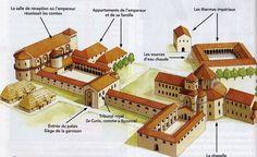 Complexe palatial Aix la Chapelle On sait que le gros œuvre était terminé en 798 et que la chapelle fut consacrée en 805, mais les travaux continuèrent jusqu'à la mort de Charlemagne en 814. C'est Eudes de Metz qui dessina les plans du palais qui s'inscrivait dans le programme de rénovation du royaume voulue par le souverain. Aujourd'hui, la majeure partie du palais a été détruite, mais il subsiste la chapelle palatiale qui est considérée comme l'un des trésors de l'architecture…