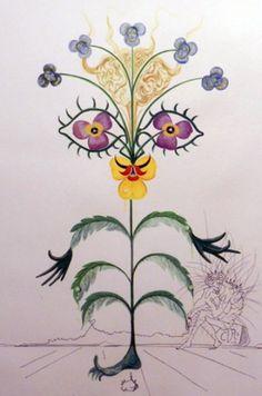 Flora Dalinae Viola Cognitans 1968 by Salvador Dali