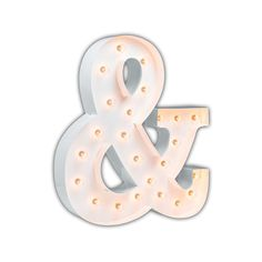"""Vintage Marquee 24"""" Ampersand """"&"""" Sign (Glossy White)"""