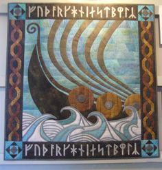 Viking longship quilt