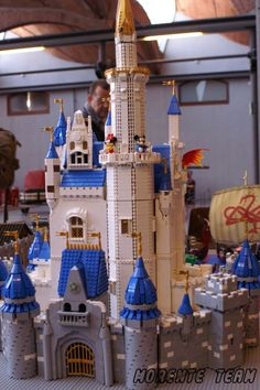 Amazing Lego replica of Disney's Cinderella Castle