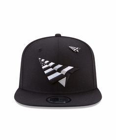 e44831402b2 Old School Snapback style - Embroidered Paper Plane logo in Black   White  on the front - Black under-visor - Black and white pin on crown - Stitched  new era ...