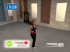 33 minute. Get started walking at home with this complete workout by Leslie Sansone. Warm up followed by workout then cool down recovery ending with stretching.