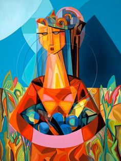 Harvest Moon Woman's Figure Painting Foliage Flowers Fruit Bowl Signed Canvas of Original Modern Landscape Contemporary Art Living Room by SierraFineArt on Etsy Colorful Paintings, Cool Paintings, Cuban Art, Original Paintings For Sale, Canvas Signs, Canvas Paper, Art Festival, Figure Painting, Canvas Art Prints