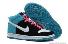 Womens Nike Dunk High SB Send Help Edition Black White Blue Reef Shoes For Wholesale Nike Casual Shoes, New Nike Shoes, Nike Shoes Cheap, Nike Shoes Outlet, Cheap Sneakers, Cheap Nike, Nike Air Max 2012, Air Max 90, Nike Dunks