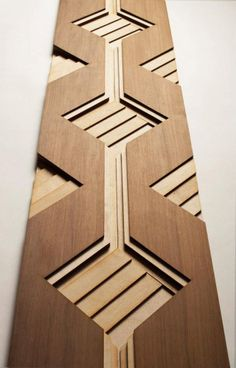 Sculptural wood surfaces