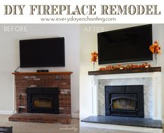 Diy Fireplace Reveal