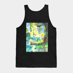 Tank Tops by fairychamber Magical Unicorn, Wearable Art, Tank Man, Fantasy, Tank Tops, Prints, Design, Fantasia, Halter Tops