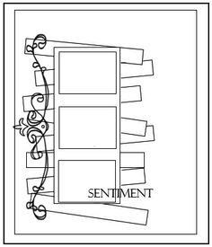 Lillyquinn quinticentally Card Sketches: filmstrip trim n strips