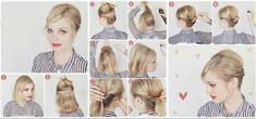 Peinado sencillo para cabello corto!