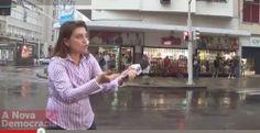 Pregopontocom @ Tudo: Jornalista da Globo da faniquito durante reportage...  Jornalista da Globo tem acesso de raiva e é rechaçada em Copacabana