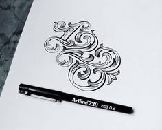Beautiful numbers by @onevu | #typegang if you would like to be featured | typegang.com