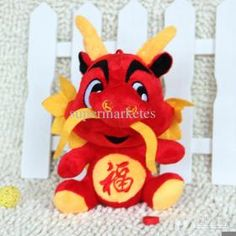 Wholesale - 20 CM 25 CM 40 CM Small Hang Happiness Upside Down New Year Gift Dragon Tlush Toys Dragon Doll