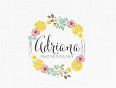 Photography Logo Floral Logo Design Boutique Logo Fasion Logo Decor Logo