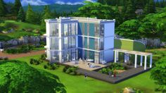 "This house, for those of us who always want to see the Big Picture: | 14 Ultra-Pimped-Out ""Sims"" Houses You Wish You Could Actually Own"