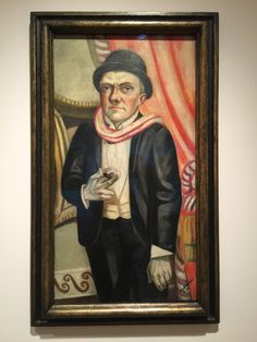 Self-Portrait in Front of Red Curtain. Max Beckmann, 1923.