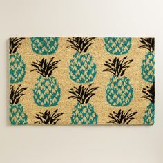 Crafted of resilient coconut husk fibers, our welcome mat features a World Market exclusive design of the symbol of hospitality, the pineapple.