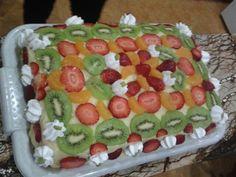 Vanila & fruits cake