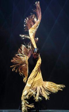 Spanish flamenco dancer Eva Yerbabuena performs on stage during her show 'Apariencias' at La Maestranza Theater in Sevilla, Spain