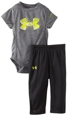 Under Armour Baby-Boys Newborn Light Speed Bodysuit Set, Grey Baby Boys, Baby Boy Newborn, Baby Boy Fashion, Kids Fashion, Women's Fashion, Under Armour Baby Boy, My Bebe, Everything Baby, Baby Kids Clothes