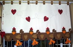 cortina de galinhas.. linda