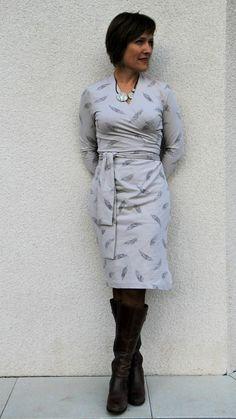 C'est Qui Qui Coud? // Olivia Wrap Dress