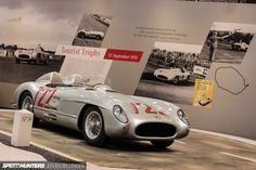 1955 Mercedes 300 SLR. In that same year racing driver Stirling Moss and navigator Denis Jenkinson won the Mille Miglia with an average speed of 157.65km/h – a record that still remains unbeaten to this day. 44-Techno-Classica-Essen-2015-Jeroen-0034