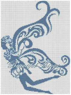 Summer Fairy free pattern for you Celtic Cross Stitch, Cross Stitch Fairy, Cross Stitch Embroidery, Cross Stitch Patterns, Beading Patterns, Crochet Patterns, Dragon Pattern, Flower Fairies, Filet Crochet