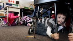 During an earthquake take cover, many studies show that injuries and deaths caused by earthquakes are due to falling objects.