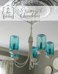 In the Kitchen Mason Jar Chandelier {3}
