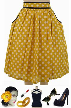 """BRAND NEW at Le Bomb Shop! The adorable """"Polly Pockets Polka Dot Skirt"""" in 4 colors! This has POCKETS, ladies!! Only $42 with FAST & FREE U.S. s/h! Buy them all here at Le Bomb Shop: http://lebombshop.net/search?type=product&q=polly+pockets+polka+dot+skirt+&search-button.x=0&search-button.y=0"""