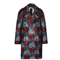 No. 21 Flower Sequined Cass Coat (€2.095) found on Polyvore featuring outerwear, coats, sequin coat, n°21 and long sleeve coat