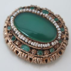 Antique Victorian Silver Austro Hungarian Chrysoprase Seed Pearl Brooch Pin | eBay Pearl Jewelry, Boho Jewelry, Beaded Jewelry, Jewelry Box, Victorian Jewelry, Antique Jewelry, Vintage Jewelry, Victorian Era, Antique Brooches