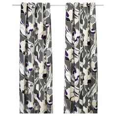 JANETTE Pair of curtains - gray - IKEA/These are actually gray and purple - very nice.