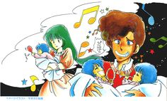 Musica and her own triumvirate daughters December 23 2016, Main image file changed into more Black and white contrast adjustment , high definition color and noiseless layer! Drawing by Ms. Riho Yagisawa Musica Nova -Robotech Chronicles- http://seesaawiki.jp/harmony-gold_japan/d/%a5%e0%a5%b8%a5%ab%a1%a6%a5%ce%a5%f4%a5%a1