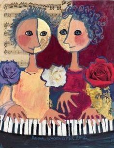 'Duet' ~ Rosina Wachtmeister (1939)