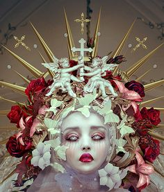 photography and digital art with my own portraits for Wacom Talent Audition. created using SLR cameras, PS and Wacom - Natalie Shau Madonna, Character Inspiration, Character Design, Character Makeup, Drawing Competition, La Madone, Gothic Dolls, Pop Surrealism, Gothic Art